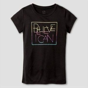 Champion S9846 Girls Graphic Tech T-Shirt Black